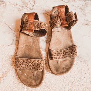 Teva Anna ankle strap leather embroidered sandals